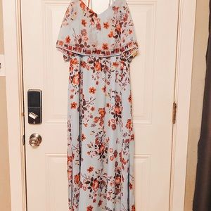 Floor length lightweight dress